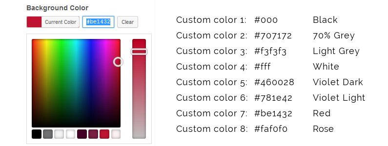 Add your colors to the WordPress color picker